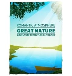 Lake Nature Landscape Background Poster vector image vector image