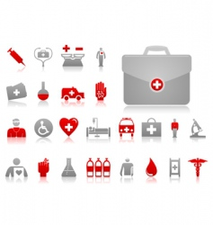 medical icons4 vector image
