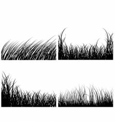 set of grass backgrounds vector image vector image