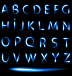Set of neon letters vector image