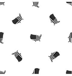 usa map pattern seamless black vector image vector image