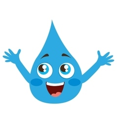 drop water character isolated icon vector image