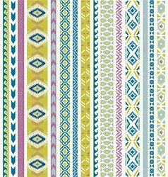 Seamless pattern tribal set vector image vector image