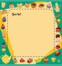 background of different sweets vector image