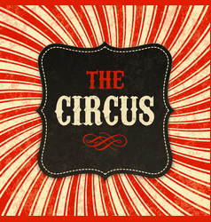 circus poster background vector image