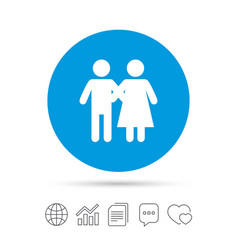 couple icon young family symbol vector image