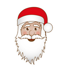 face cartoon santa claus portrait icon vector image vector image