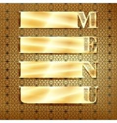 menu golden ornament 3 vector image