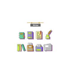 writer vector image