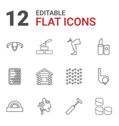 12 texture icons vector