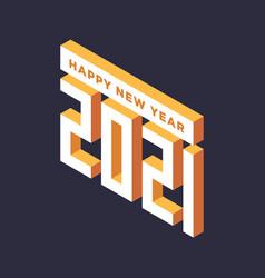 2021 new year isometric art minimal 2021 holiday vector image