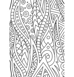 abstract black and white coloring book art vector image