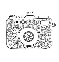 Abstract camera design vector image