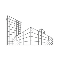 Architecture in linear style vector image
