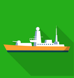 army ship icon flat style vector image