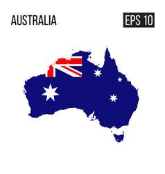 australia map border with flag eps10 vector image
