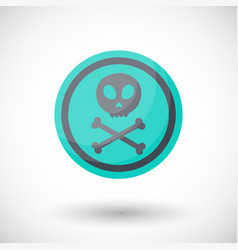 Aware sign flat icon vector