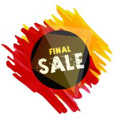 Banner final sale brush image vector