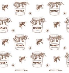 beekeping seamless pattern vector image