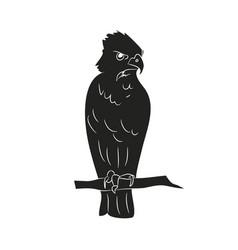 bird in flight silhouette vector image