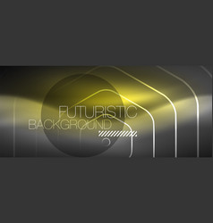 black and glowing color lines neon design magin vector image