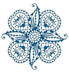 Blue Floral Design vector image
