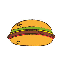 burger food picnic diet vector image