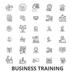 Business training training session learning vector