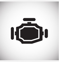 Car gear box on white background for graphic and vector