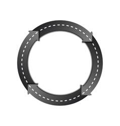 Circles arrow road vector