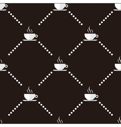Coffee Cup Seamless Pattern vector image