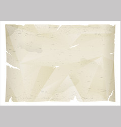 Crumpled sheet of old paper vector