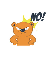 cute bear angry vector image