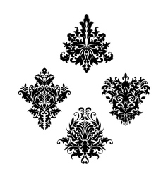 Damask vintage floral patterns vector
