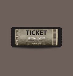 Dark stub ticket vector