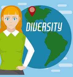 Diversity around the world vector