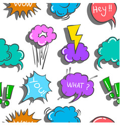 Doodle of text balloon pattern vector