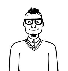 doodle sketch hipster vector image