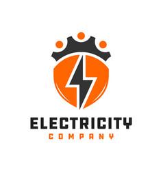 electrical grid repair logo vector image