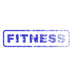 Fitness rubber stamp vector