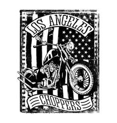 flag and bike vector image