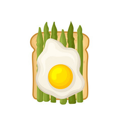 flat icon of healthy and tasty sandwich vector image