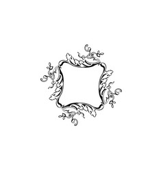 floral vintage frame isolated on white vector image