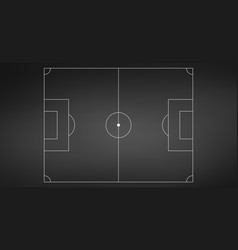 football or soccer game field isolated on vector image