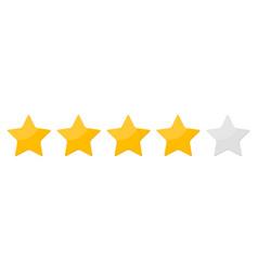 Four 4 star rank sign vector
