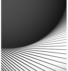 geometric element with radial lines abstract art vector image