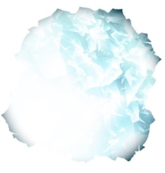 glass or blue ice background vector image