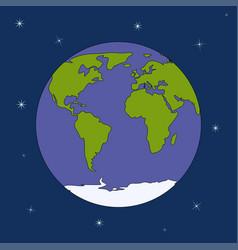 globe planet vector image