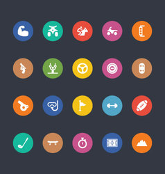 Glyphs Colored Icons 49 vector
