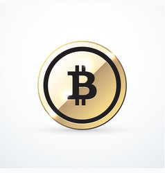 gold bitcoin icon isolated vector image